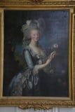 VERSAILLE :绘画玛丽・安托瓦内特,路易斯国王的妻子XVI奥地利的皇帝弗朗索瓦一世和玛丽亚・特蕾西亚的法国女儿 库存照片