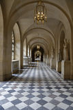 VERSAILLE FRANCE: Interior Walkway into Courtyard of Chateau de Versailles,  the estate of Versaille home of Louis XIV, France -AU Stock Photography