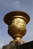 VERSAILLE FRANCE:  Vase featured at Chateau de Versailles at sunset with fountain,  the estate of Versaille was the home and court Stock Images