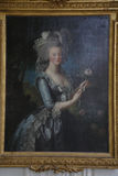 VERSAILLE: Painting Marie Antoinette, Wife of King Louis XVI of France Daughter of Emperor Francis I and Maria Theresa of Austria  Stock Photos