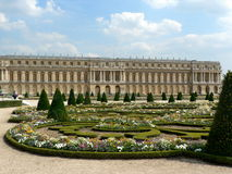 Versailles. Palace of Versailles and gardens in France Stock Photography