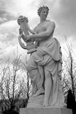 Versailles. Female statue in the gardens of the Chateau of Versailles, Paris stock photo
