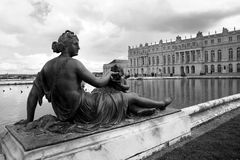 Versailles. Statue in the gardens of Versailles Castle Stock Photography