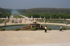 Versailles - 8. Fountain and lake in Versailles, Paris, France Royalty Free Stock Image