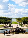 Versailles Castle garden with fountain in France Royalty Free Stock Photography