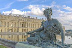 Versailles Chateau, Statue and fountain view Royalty Free Stock Images