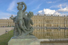 Versailles Chateau, Statue and fountain view Stock Photography