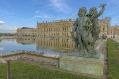 Versailles Chateau, Statue and fountain view Royalty Free Stock Photo