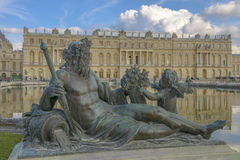 Versailles Chateau, Statue and fountain view Royalty Free Stock Photos