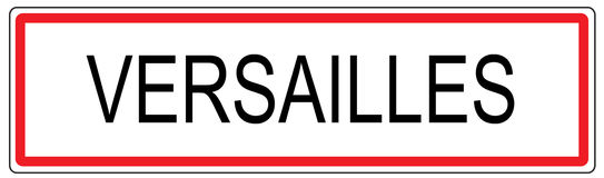 Versailles city traffic sign illustration in France Royalty Free Stock Photo
