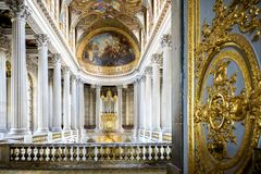 VERSAILLES, FRANCE The Royal Palace and garden in Versailles royalty free stock images