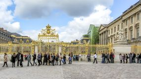 Versailles, France - April, 2012: Gates of the Palace near Paris, France. royalty free stock image