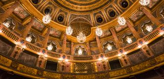 Interiors of the royal opera, Versailles, France Stock Photo