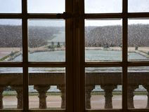 Versailles / France - January 05 2012: View of the building of the Palace of Versailles and the Versailles garden. stock photos