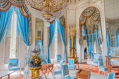 VERSAILLES, FRANCE - JULY 02, 2016 : Apartments in the Grand Trianon.Salon Ice Loungesalon des glaces. Chateau de Versailles. France.n royalty free stock images