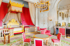 VERSAILLES, FRANCE - JULY 02, 2016 : Chambery(Apartments) of Empress in Grand Trianon. Chateau de Versailles. France royalty free stock photography