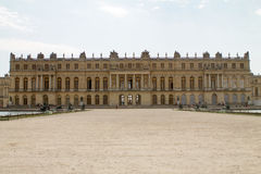 VERSAILLES, FRANCE - JULY 20,2016 : Facade of Versailles palace stock photography