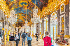 VERSAILLES, FRANCE - JULY 02, 2016 : Hall of Mirrors(Galerie des Royalty Free Stock Photos