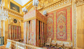 VERSAILLES, FRANCE - JULY 02, 2016 : King's Bedroom, created in Stock Photos
