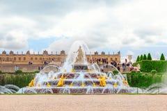 VERSAILLES, FRANCE- JULY 02, 2016 : Latona Fountain Pool, opposi Royalty Free Stock Photography