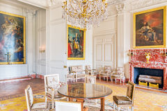 VERSAILLES, FRANCE - JULY 02, 2016 : Living room ( salon) of th. E chapel in Grand Trianon. Chateau de Versailles. France stock image