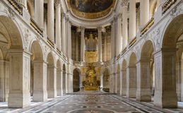 VERSAILLES in France. VERSAILLES, FRANCE - JUNE 19, 2013: Interior of Chateau de Versailles (Palace of Versailles) near Paris on June 19, 2013, France stock image