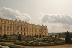 Versailles, Francia - 26,2017 augusti: Bello castello con progettazione speciale immagine stock libera da diritti