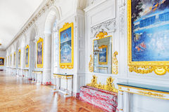 VERSAILLES FRANCJA, LIPIEC, - 02, 2016: Biała galeria z obrazem Zdjęcia Stock