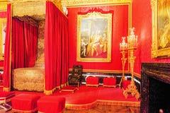 VERSAILLES FRANCJA, LIPIEC, - 02, 2016: Królewiątka ` s uroczysty apartmentSalo Zdjęcie Stock
