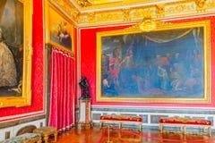 VERSAILLES FRANCJA, LIPIEC, - 02, 2016: Królewiątka ` s uroczysty apartmentSalo Obrazy Royalty Free