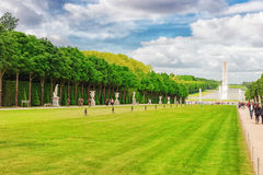 VERSAILLES FRANCJA, LIPIEC, - 02, 2016: Piękny ogród w Famou Obrazy Stock