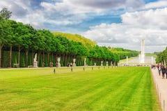 VERSAILLES FRANCJA, LIPIEC, - 02, 2016: Piękny ogród w Famou Obraz Stock