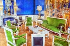 VERSAILLES FRANCJA, LIPIEC, - 02, 2016: Uroczysty imperatorowej zieleni gabinet Obrazy Stock