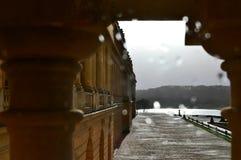 Versailles/Frankreich - 5. Januar 2012: Gebäudeansicht des Palastes von Versailles und von Versailles-Garten stockfoto