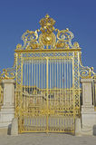 Versailles Front Gate. The gilded front gate of the Palace of Versailles near Paris Royalty Free Stock Image