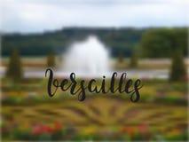 Versailles-Gärten, welche die Hand gezeichnet letering sind Lizenzfreie Stockfotografie