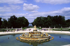 Versailles - The garden. Versailles - The park & the fountain Stock Photos
