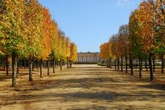 Versailles gardens. Trianon in autumn stock photography