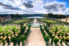 Versailles Gardens. A wide shot of the famous Versailles Gardens stock photography