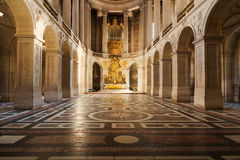 Versailles Palace Chapel. Chapel interior. The Versailles Palace Museum, France Royalty Free Stock Photo
