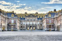 Versailles palace facade, Paris, France royalty free stock image