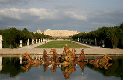 Versailles Palace, France. Garden on Versailles Palace, France royalty free stock photography