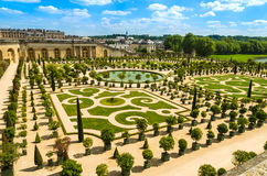 Versailles Palace gardens near Paris, France. Versailles, France: Gardens of the Versailles Palace near Paris, France Stock Photo