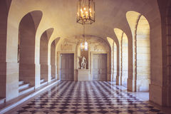 Versailles Palace Hallway. A beautiful deserted hallway in the renowned Versailles chateau Royalty Free Stock Photo
