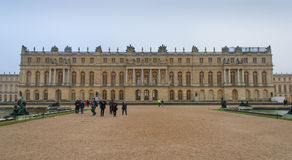 Versailles Palace. Paris, France, January 14, 2014. View of the Palace of Versailles Stock Photography