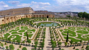 Versailles palace, paris, france, 4k stock video footage