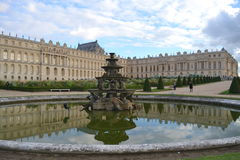 Versailles Palace and part of the garden Stock Photography