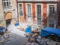 Versailles Palace restoration worksite, France Royalty Free Stock Images