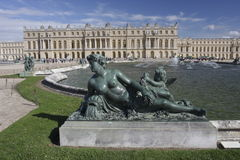 Versailles Palace view from the gardens Stock Image