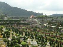 Versailles-Park in Nong Nooch Lizenzfreie Stockfotos